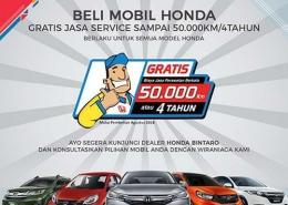 Beli mobil Honda GRATIS servis 4 Tahun